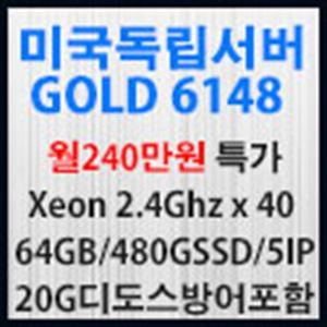 Picture of 미국 이코사서버임대 Gold 6148