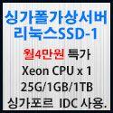 Picture of 싱가포르 가상서버 리눅스 SSD-1