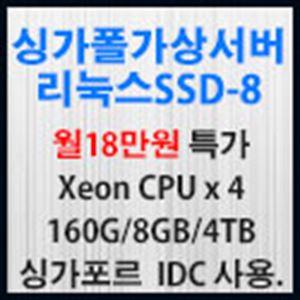 Picture of 싱가포르 가상서버 리눅스 SSD-8